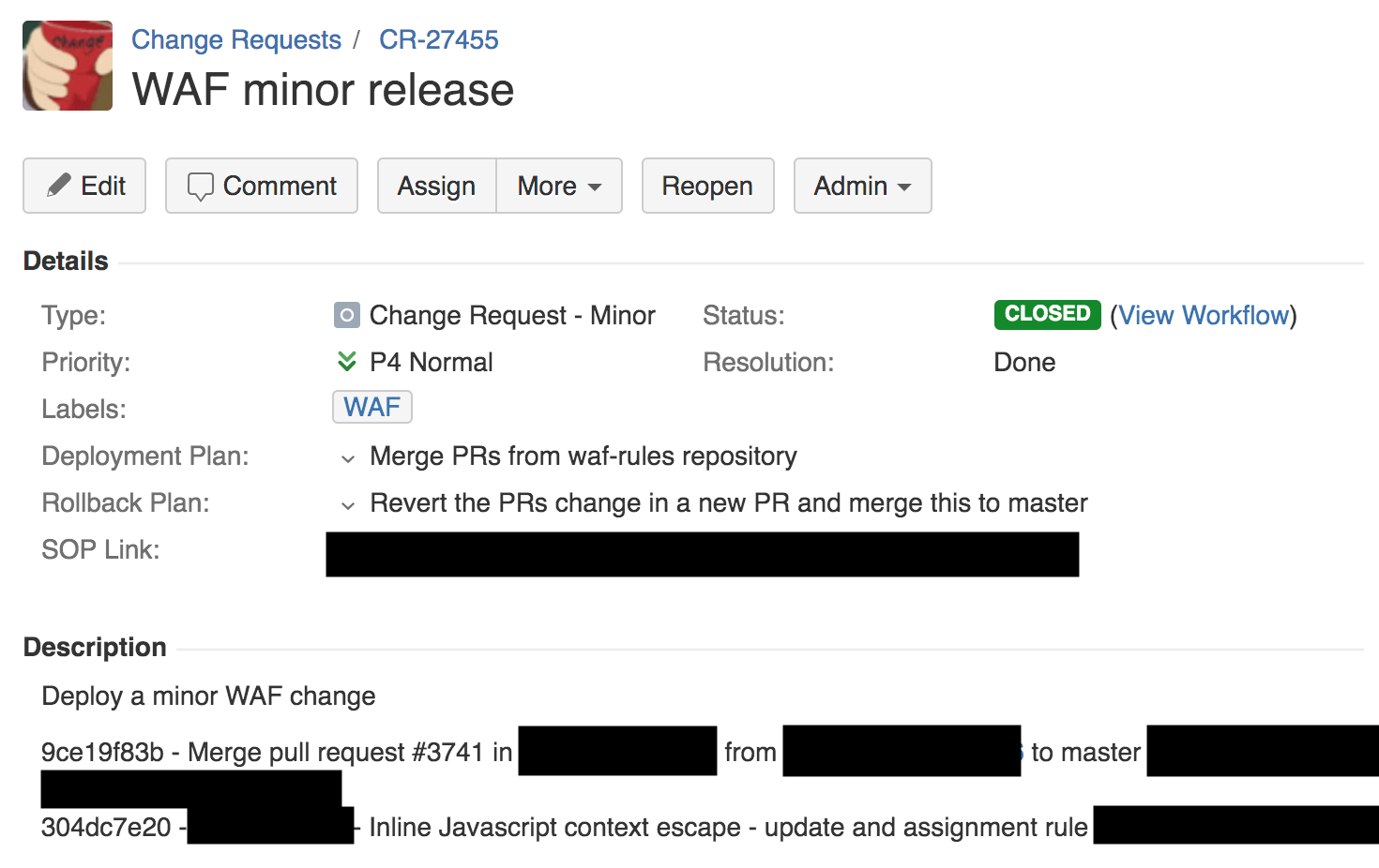 jira change request