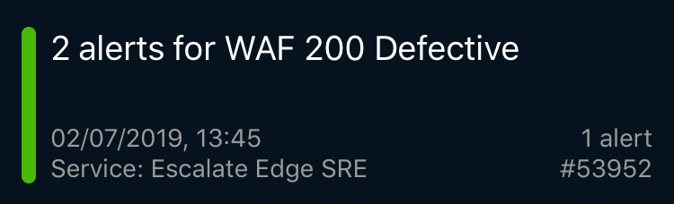WAF 200 Defective