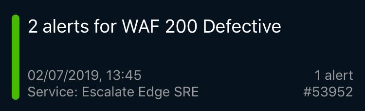 WAF 200 Defective