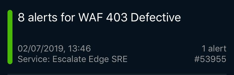 WAF 403 Defective
