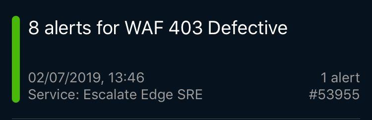WAF 403 Defective