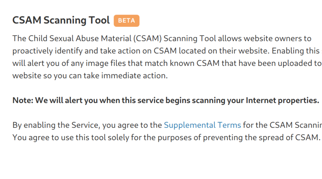 Announcing the CSAM Scanning Tool, Free for All Cloudflare Customers