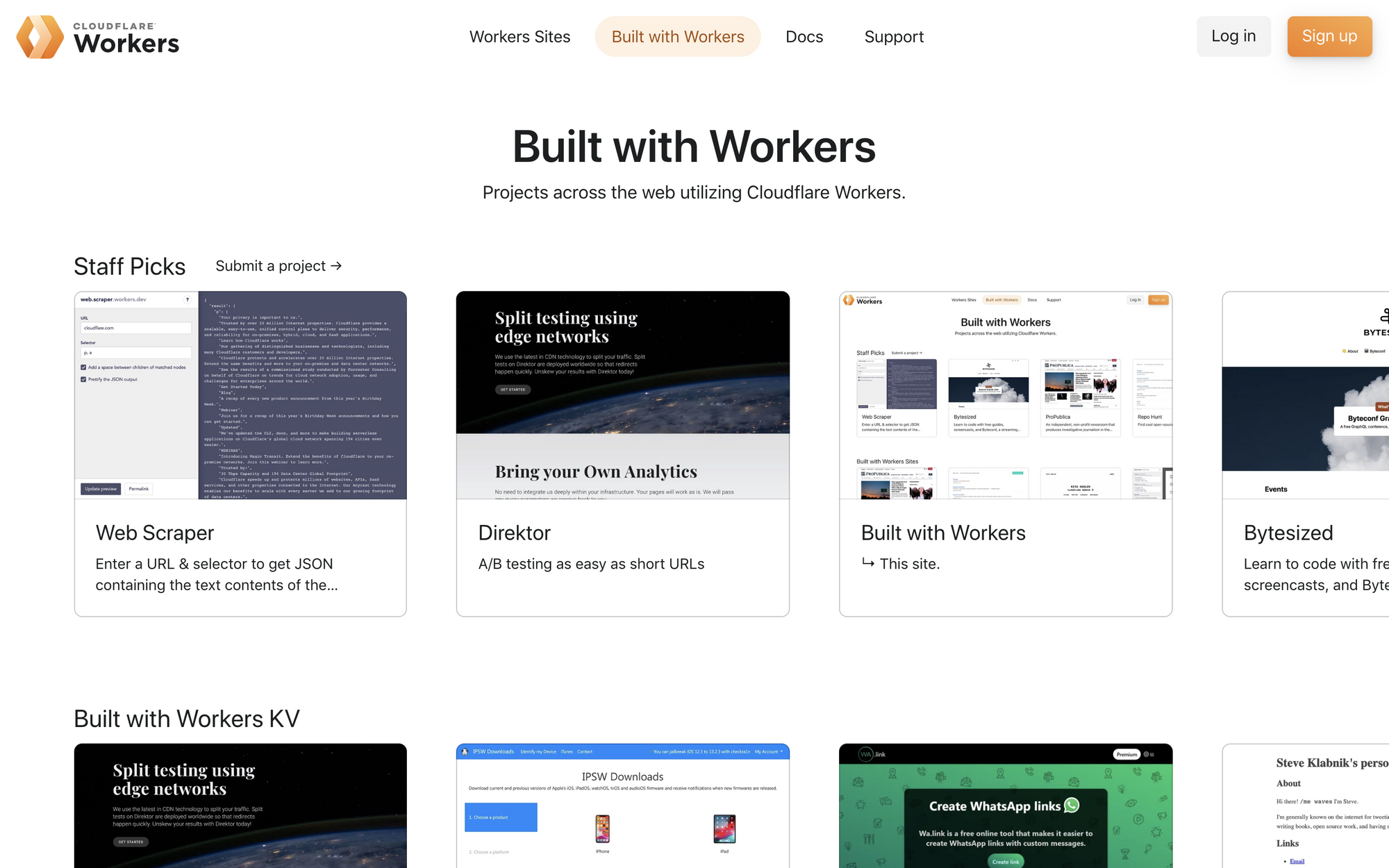Announcing Built with Workers