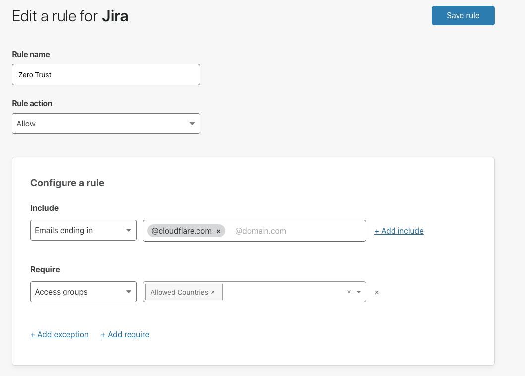 Two clicks to add region-based Zero Trust compliance