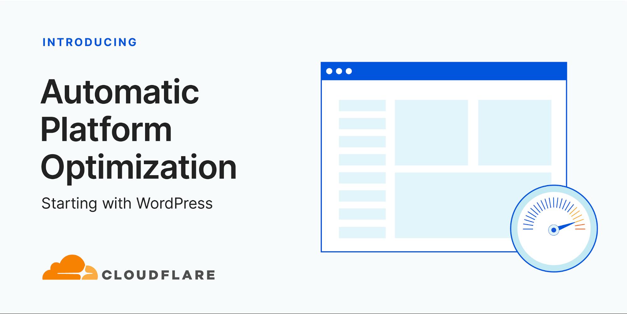 Introducing Automatic Platform Optimization, starting with WordPress